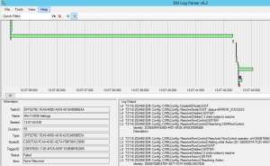 Duration of each step, and the entirety of the logon process, is easily represented in the Timeline View.